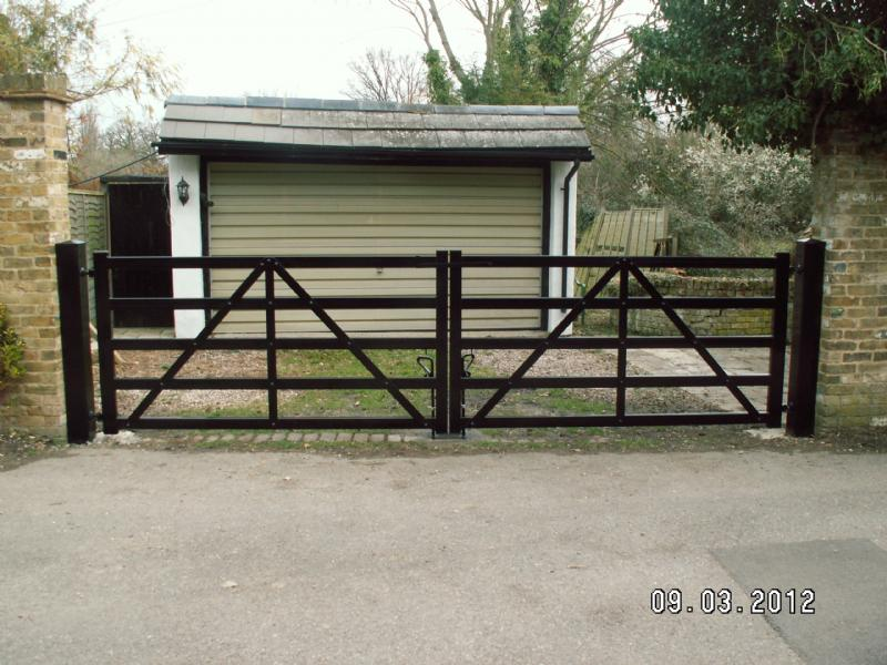 5 Bar Metal Driveway Gates From Ark Wrought Ironwork In
