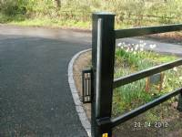Five-bar 'wooden-style' steel gates - project portfolio 2