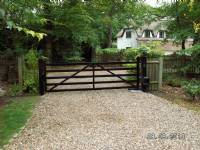 Five-bar 'wooden-style' steel gates - project portfolio 4