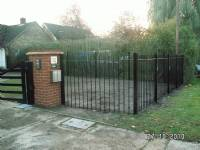 Five-bar 'wooden-style' steel gates - project portfolio 5